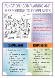 COMPLAINING AND RESPONDING TO COMPLAINTS