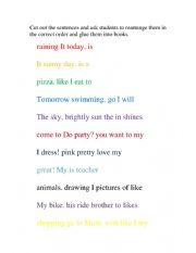English Worksheet: Jumbled Sentences