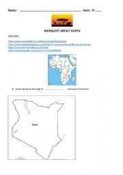 English Worksheet: webquest about Kenya