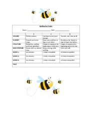 Spelling Bee Rubric