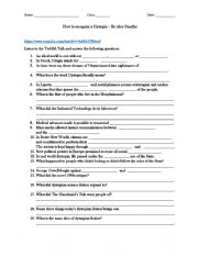 English Worksheet: Intro to Brave New World or Any Dystopian Novel by Listening Activity
