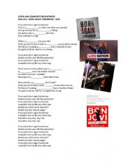 English Worksheet: UNREAL CONDITIONAL - SECOND  / IF YOU WERE BORN AGAIN TOMORROW - BON JOVI -