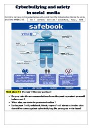 English Worksheet: CYBERBULLYING AND  ONLINE SAFETY