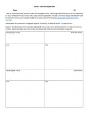 English Worksheet: Trends- Planning and Careers