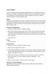 English Worksheet: volunteers customer skills activity