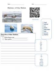 English Worksheet: Writing About Habitats