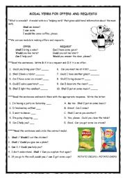 Requests and Offers Worksheet