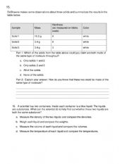 Chemistry Pretest