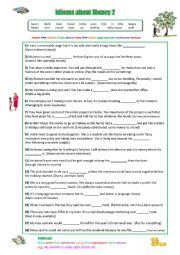 English Worksheet: Idioms about Money 2