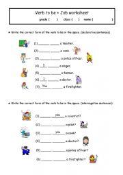 English Worksheet: verb to be