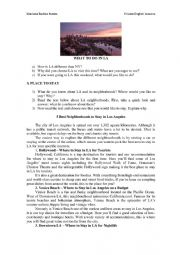English Worksheet: What to do in LA