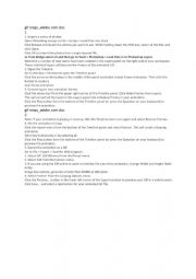 English worksheet: how to make a gif