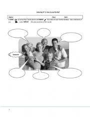 English Worksheet: LISTENING COMPREHENSION ABOUT THE FAMILY