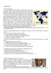 English Worksheet: We are all africans