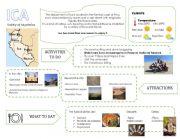 English Worksheet: Infography about Peru: Ica