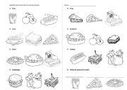 English Worksheet: ESL Kindergarten Lunch Vocabulary Quiz - hamburger, salad, soup, pizza, sandwich, hotdog