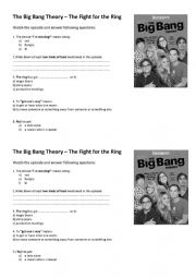 English Worksheet: The Big Bang Theory � The Fight for the Ring