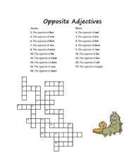 English Worksheet: Antonyms