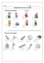 English Worksheet: Listening tasks for the 3rd grade