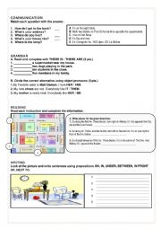 English Worksheet: TEST ABOUT PREPOSITIONS,