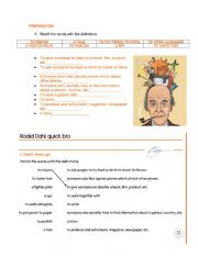 English Worksheet: Work Sheet Roald Dalh