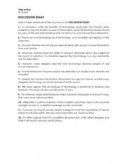 English Worksheet: Discussion Essay Exercise / IELTS writing