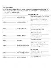 English Worksheet: be going to game
