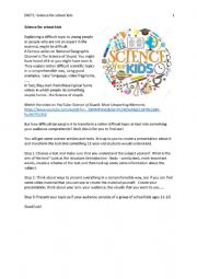 English Worksheet: Science for school kids