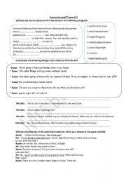 English Worksheet: review