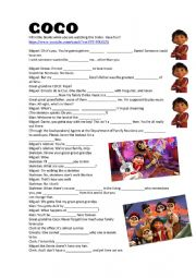 English Worksheet: COCO