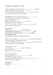 English Worksheet: Ed Sheeran Thinking Out Loud
