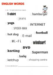 English Worksheet: English words we use