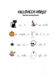 Halloween Wovel Fill In