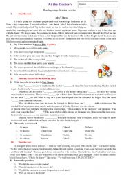 English Worksheet: ....