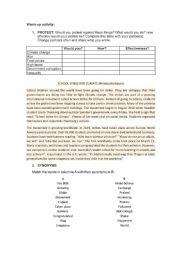 English Worksheet: Fridays for future