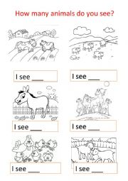 English Worksheet: Animal farms