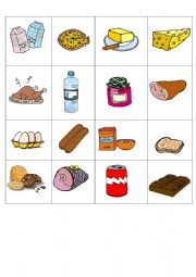English Worksheet: FOOD CARDS
