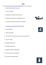 English Worksheet: Jaws Clip