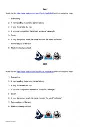 English Worksheet: Jaws