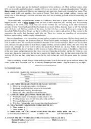 English Worksheet: a married woman