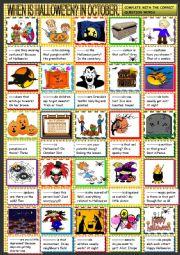 Halloween; question words