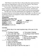 Happy new year  worksheet