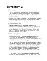 English Worksheet: TOEIC TIPS