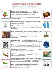 Idioms Picture Mix-and-Match