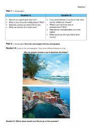 Speaking Holidays FCE format
