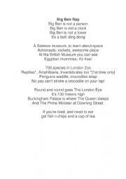 English Worksheet: Big Ben Rap challenge