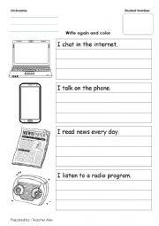 English Worksheet: means of communication