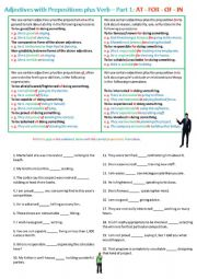 Adjectives and prepositions plus gerunds