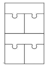 3 way puzzle piece blank