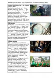 English Worksheet: Amusement park